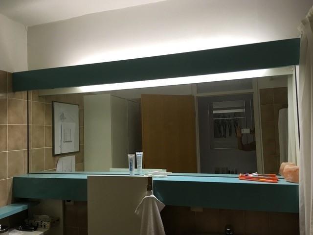 vorher Badspiegel