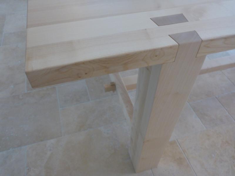 Baum zum Tisch 9  Verbindung Tischfüße Tischplatte