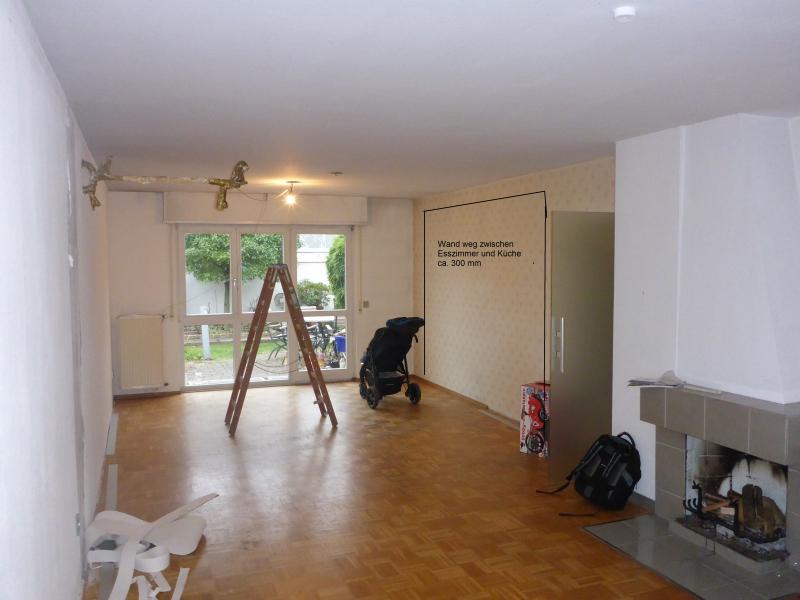 Wand weg zwischen Esszimmer und Küche